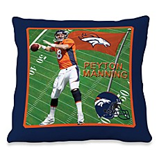 Biggshots Peyton Manning Game Time Action Sports 18-Inch Toss Pillow