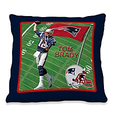 Biggshots Tom Brady First Down Action Sports 18-Inch Toss Pillow