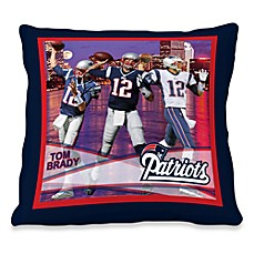 Biggshots Tom Brady Game Time Action Sports 18-Inch Toss Pillow