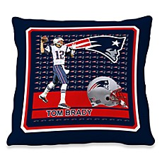 Biggshots Tom Brady Hometown Action Sports 18-Inch Toss Pillow