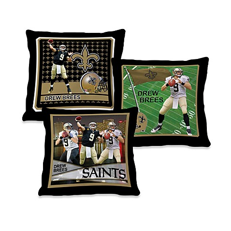 Biggshots Drew Brees Action Sports 18-Inch Toss Pillow
