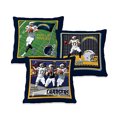 Biggshots Phillip Rivers Action Sports 18-Inch Toss Pillow