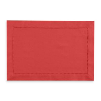 Waterford® Linens Addison 100% Linen Placemat in Red