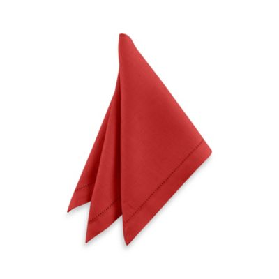 Waterford® Linens Addison 100% Linen Napkin in Red