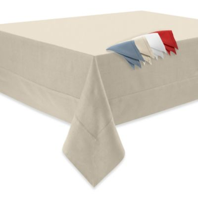 Waterford® Linens Addison 70-Inch x 126-Inch 100% Linen Tablecloth in Cream