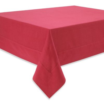 Waterford® Linens Addison 70-Inch x 84-Inch 100% Linen Tablecloth in Red