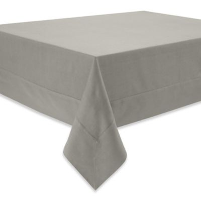 Waterford® Linens Addison 70-Inch x 162-Inch Oblong Tablecloth in Platinum