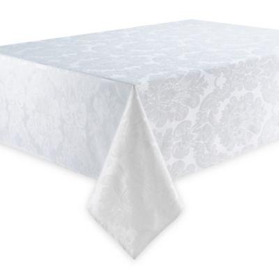 Waterford® Linens Whitmore 70-Inch x 126-Inch Oblong Tablecloth in White