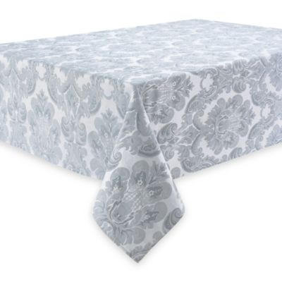 Waterford® Linens Whitmore 70-Inch x 144-Inch Tablecloth in Platinum