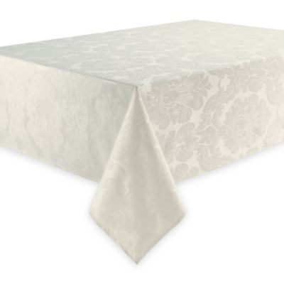 Waterford® Linens Whitmore 70-Inch x 126-Inch Oblong Tablecloth in Ivory