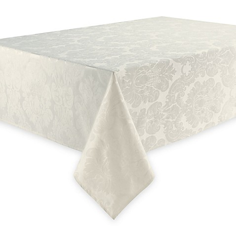 Waterford® Linens Whitmore 70-Inch x 84-Inch Tablecloth in Ivory