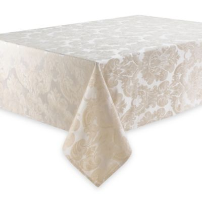 Waterford® Linens Whitmore 70-Inch x 126-Inch Oblong Tablecloth in Gold