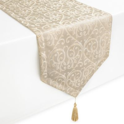 Waterford® Linens Anya Table Runner in Gold