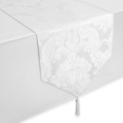 Waterford® Linens Whitmore Table Runner in White