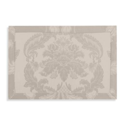 Waterford® Linens Damascus Placemat in Pewter