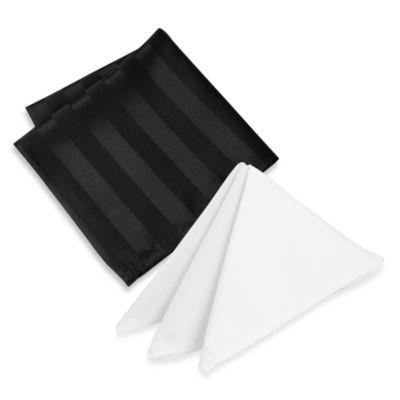 Riegel® Premier Satin Stripe Napkin in White (6-Pack)