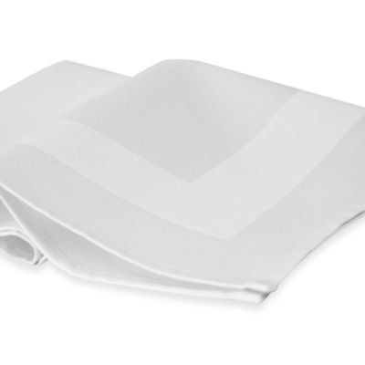 Riegel® 6-Pack Satin Band Beauti-Damask Cotton Blend Napkins in White