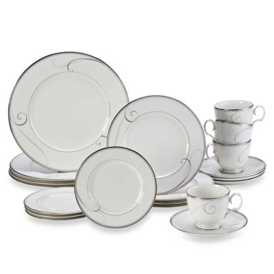 Noritake® Platinum Wave 20-Piece Dinnerware Set