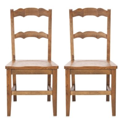 Safavieh Beecher Side Chair - Oak (Set of 2)