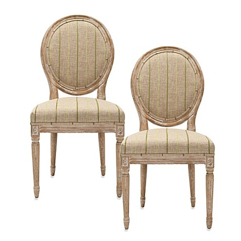 Safavieh Paris Oval Side Chair - Stripe (Set of 2)