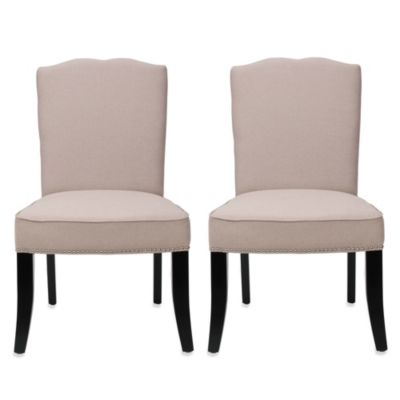 Safavieh Terrie Side Chair - Beige (Set of 2)