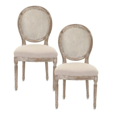 Safavieh Lehana Side Chair in Grey (Set of 2)