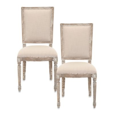 Safavieh Andrew Side Chair in Grey (Set of 2)