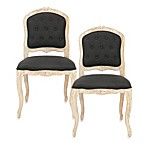 Safavieh Carissa Side Chair in Black (Set of 2)