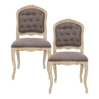 Safavieh Carissa Side Chair in Brown (Set of 2)