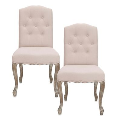 Safavieh Vicky Side Chair in Beige (Set of 2)