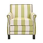 Safavieh Easton Club Chair in Green/Beige Stripe