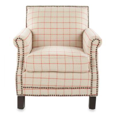 Red Tan Club Chair
