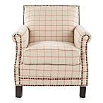 Safavieh Easton Club Chair in Red/Tan Stripe