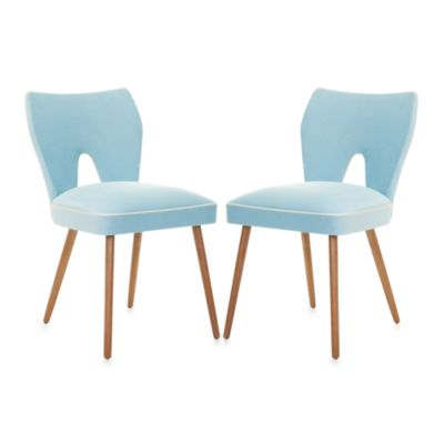 Safavieh Julia Dining Chair in Blue (Set of 2)