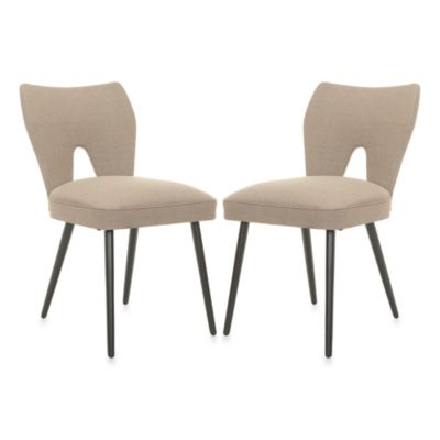 Safavieh Julia Dining Chair in Beige (Set of 2)
