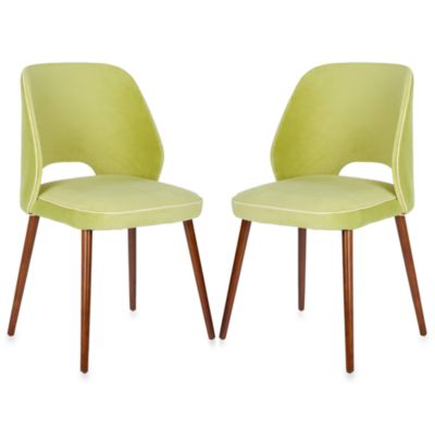 Safavieh Lizzie Dining Chair in Green (Set of 2)