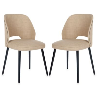 Safavieh Lizzie Dining Chair in Straw (Set of 2)
