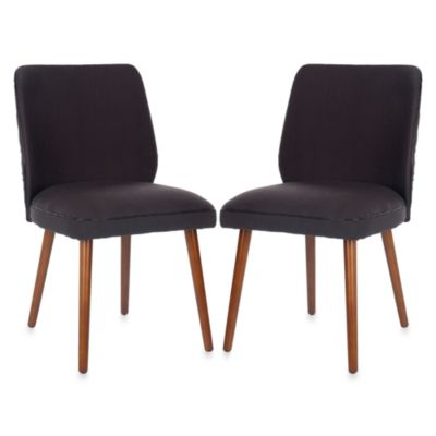 Safavieh Ethel Dining Chair in Brown (Set of 2)