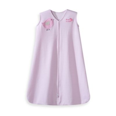 HALO® SleepSack® Medium Wearable Blanket in Pink Stripe Bird