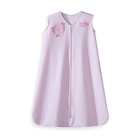 HALO® SleepSack® Large Wearable Blanket in Pink Stripe Bird