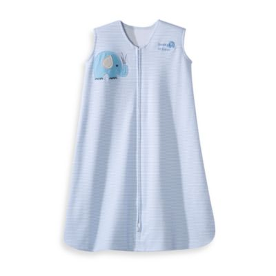 HALO® SleepSack® Medium Wearable Blanket in Blue Striped Elephant