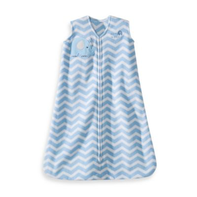 HALO® SleepSack® Large Wearable Blanket in Blue Zigzag Elephant