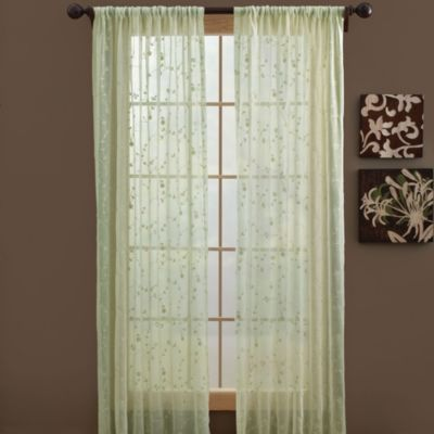 B. Smith Bermuda Rod Pocket Window Curtain Panels