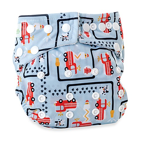 Bumkins® All-in-One One Size Cloth Diaper in Fire Engine