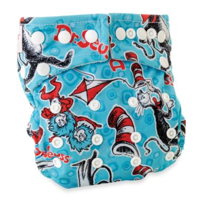Bumkins® All-in-One One Size Cloth Diaper in Cat in the Hat