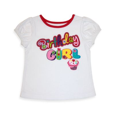Kidtopia White Birthday Girl Tee - 12 Months