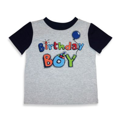 Kidtopia Size 18 Months Grey Birthday Boy Tee