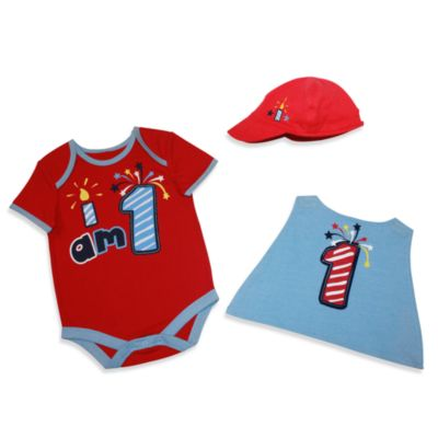 Kidtopia I am 1 Superhero 3-Piece Set - 9 Months
