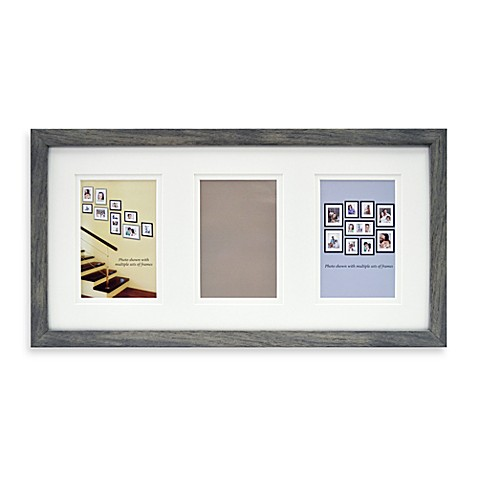Mix and Match 3-Opening Photo Frame - Grey