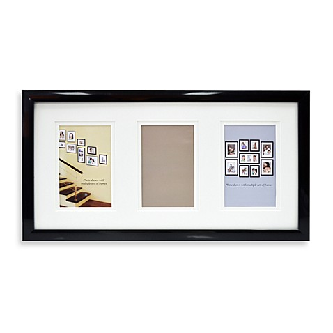 Mix and Match 3-Opening Photo Frame - Black